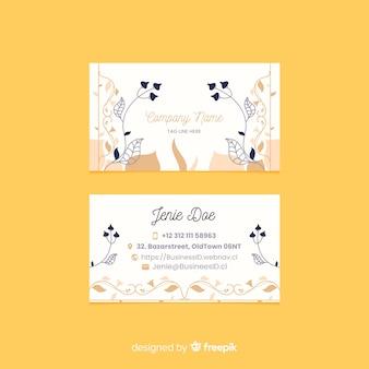 Sjabloon bloemen elegant visitekaartje