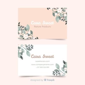 Sjabloon bloemen visitekaartje