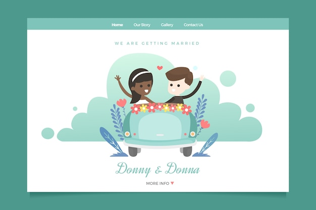 Sjabloon bruiloft bestemmingspagina