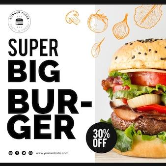 Sjabloon burger flyer