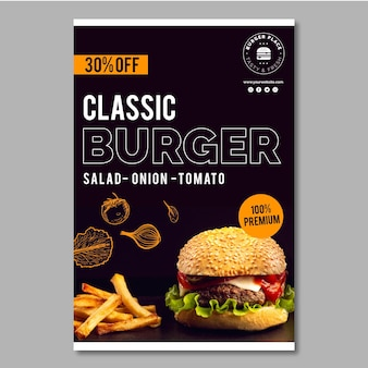 Sjabloon burger flyer