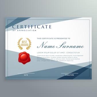 Sjabloon certificaat design met moderne geometrische vormen vector