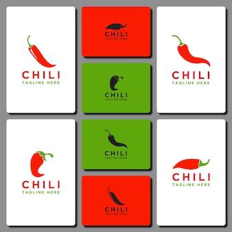 Sjabloon chili logo decorontwerp