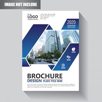 Sjabloon cover flyer of brochure wit geometrische vorm