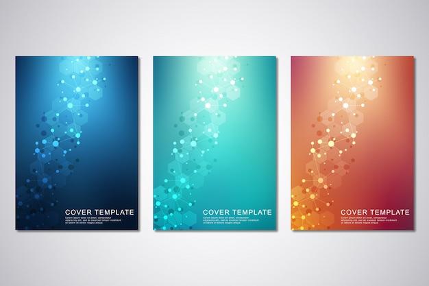 Sjabloon cover set met moleculen