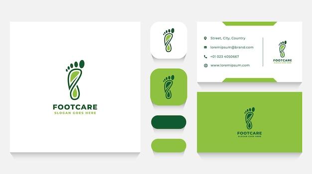 Sjabloon en visitekaartje voor voetgezondheidszorg