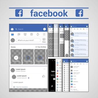 Sjabloon facebook ux