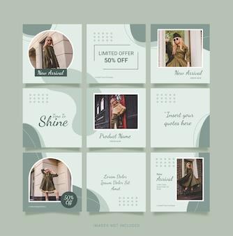Sjabloon fashion women puzzle post instagram
