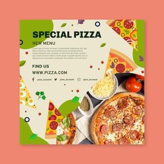 Sjabloon folder italiaans eten