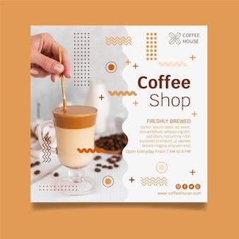 Sjabloon folder voor coffeeshop