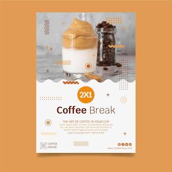 Sjabloon folder voor coffeeshop Gratis Vector