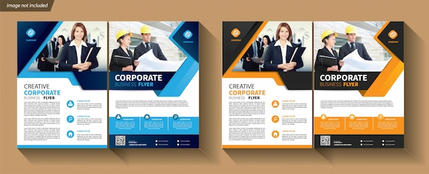 Sjabloon folder voor cover brochure corporate