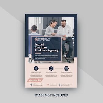 Sjabloon folder voor digitale agentschap