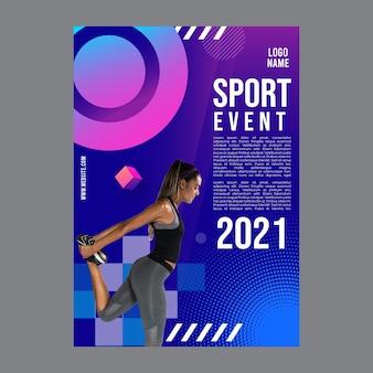 Sjabloon folder voor fitness-activiteit