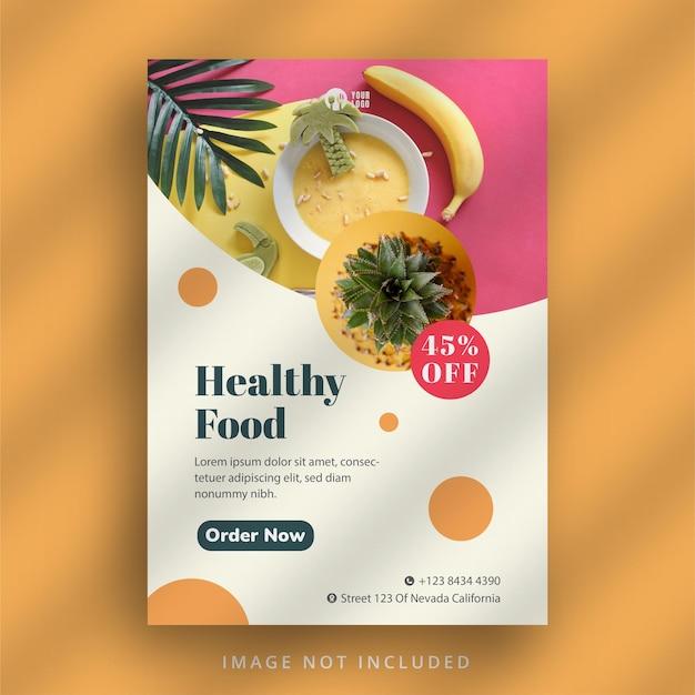 Sjabloon folder voor gezond restaurant
