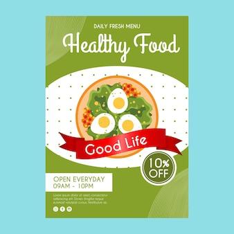 Sjabloon folder voor gezonde voeding restaurant