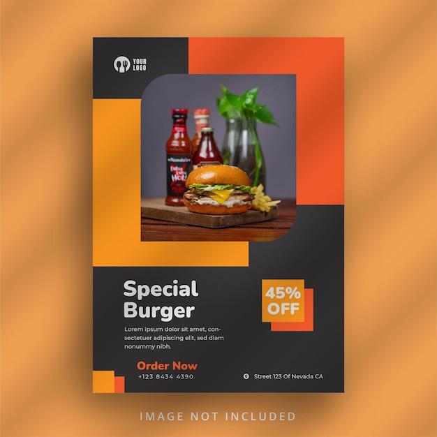 Sjabloon folder voor hamburgerrestaurant