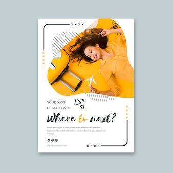 Sjabloon folder voor last-minute reizen