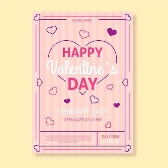 Sjabloon folder voor valentijn dag