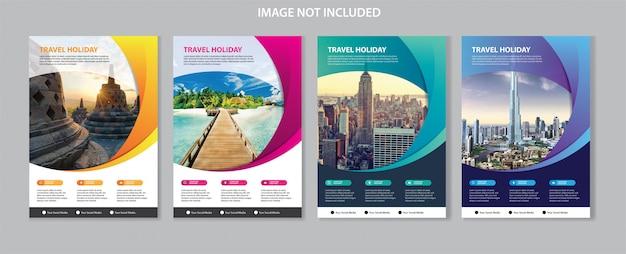 Sjabloon folder voor zakelijke brochure cover