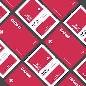 Sjabloon grafisch ontwerper grappig visitekaartje