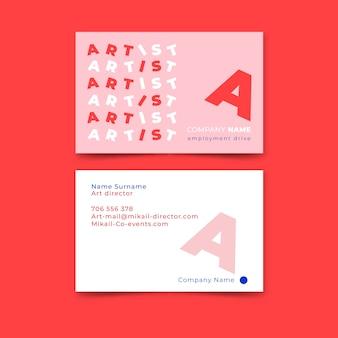 Sjabloon grappige grafisch ontwerper visitekaartje