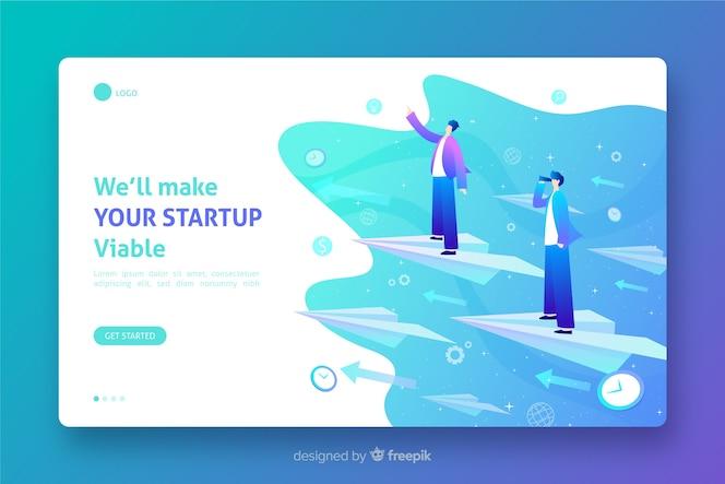 Sjabloon haalbare startpagina voor opstarten