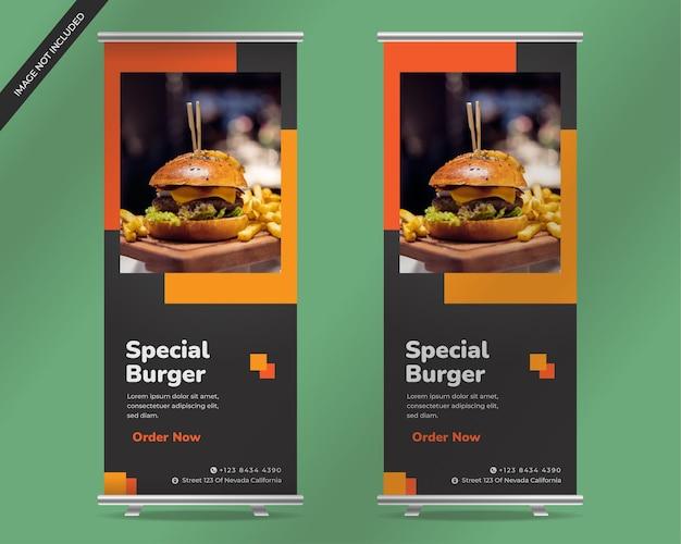 Sjabloon hamburger flyer