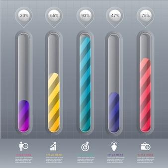 Sjabloon infographic grafiekelement.