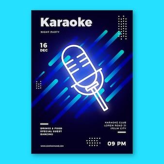 Sjabloon karaoke abstracte poster