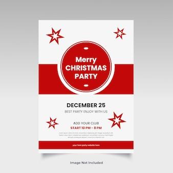 Sjabloon kerstfeest flyer