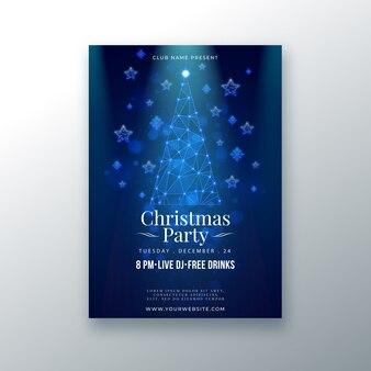 Sjabloon kerstfeest poster in kaderstijl
