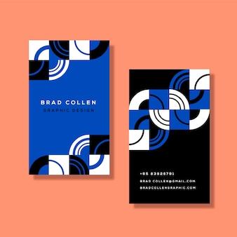 Sjabloon klassiek blauw abstract visitekaartje