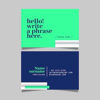 Sjabloon kleurrijke minimale visitekaartjes