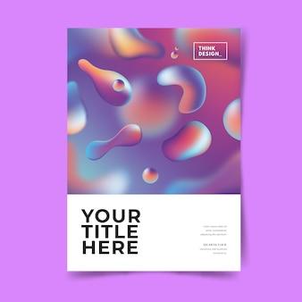 Sjabloon kleurrijke vloeistof effect poster