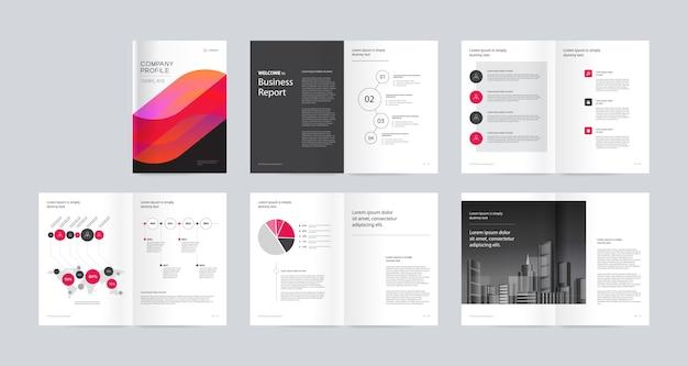 Sjabloon lay-out ontwerp brochure a4-formaat voor bewerkbare.