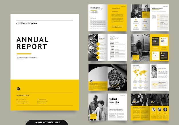 Sjabloon lay-outontwerp met voorblad voor bedrijfsprofiel en brochures