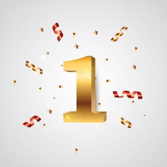 Sjabloon logo jaar verjaardag illustratie