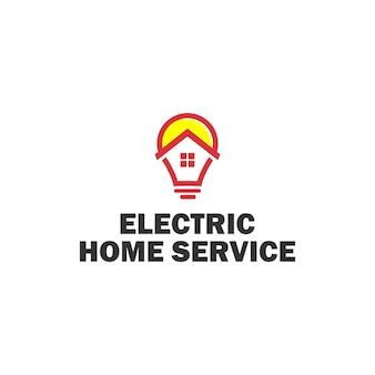 Sjabloon logo voor elektrische huisdiensten