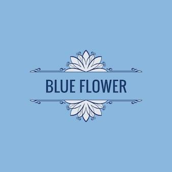 Sjabloon met bloemenlogo in pastelkleuren