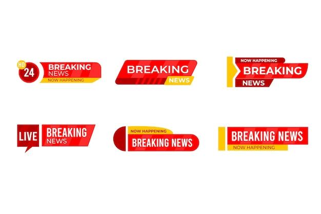 Sjabloon met breaking news design