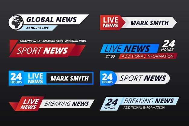 Sjabloon met breaking news-thema