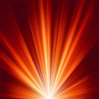 Sjabloon met burst warm kleurenlicht.