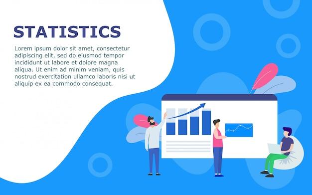 Sjabloon met dashboard en statistieken