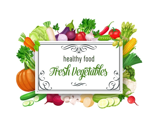 Sjabloon met groenten