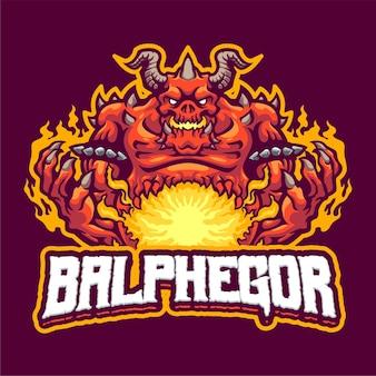 Sjabloon met logo voor balphegor mascot