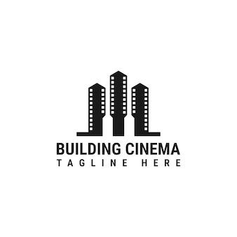 Sjabloon met logo voor bioscoop bouwen