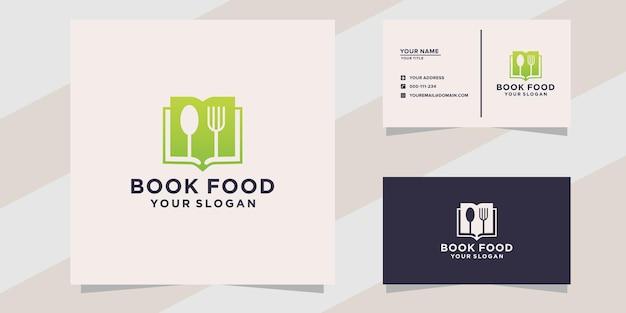 Sjabloon met logo voor eten boeken
