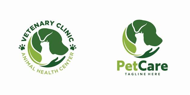 Sjabloon met logo voor huisdierenkliniek