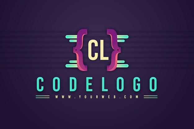 Sjabloon met logo voor kleurovergang programmeren